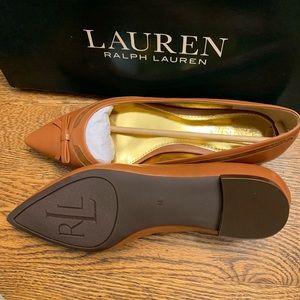 Never worn brown Lauren Ralph Lauren ballet flats